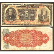 Billete De 5 Pesos Puebla