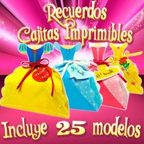 Pack Cajitas Recuerditos Imprimibles Princesas Disney Hadas