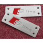 Emblema Pedal Tapete Audi Sline S-line A1 A3 A4 A5 A6 Q1 Q3