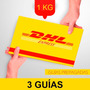 3 Guia Prepagada Dia Siguiente Dhl 1kg + Recoleccion Gratis