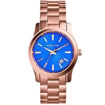 Reloj Michael Kors Runway Mk5913 Dorado Azul Acero Hm4
