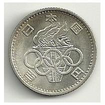 Moneda De Plata Olimpiadas Tokyo Japon 100 Yen (1964)