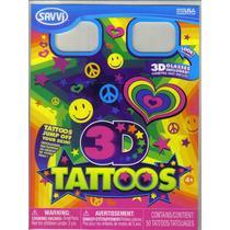 Tatuajes Temporales En 3d Con Lentes Modelo Happy
