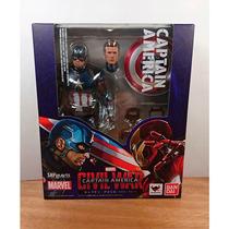 Capitan America Civil War Sh Figuarts Steve Rogers Bandai