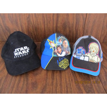 Lote 3 Gorras Star Wars 1 Adulto 2 Niño