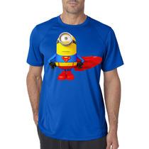 Playeras O Camiseta Super Man Minion Todas Las Tallas!!!