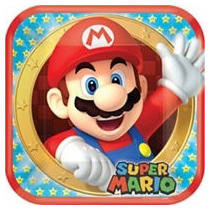 Fiesta De Super Mario Bros Platos Vasos, Espantasuegras, Etc
