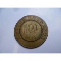 Antigua Ficha De $ 1.00 Finca Numunil En Bronce.catalogada