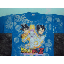 Playera Dragon Ball Z Goku Vegeta Freezer Gold Talla L Adult