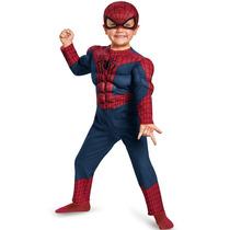 Disfraz Spiderman Bebé Hombre Araña Talla 2 Y 3/4 Original