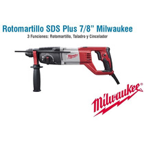 Rotomartillo Sds Plus Milwaukee 7/8 7 Amp Cincel -5262-21 *