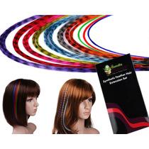 Extensiones Kit 20 Mechas De Colores Con Envio Gratis!!