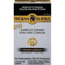 Caja Sellada Preservativos Trojan Supra No Latex P Alergicos