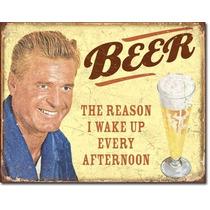 Humor Cerveza Bar La Razonvintage Retro Letrero Cartel Retro