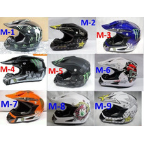 Casco Bmx Moto Motocross Monster Rockstar Racing Envío Grati