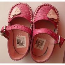 Bebe Niña Zapato En Piel 12 Cm Mexico Nuevos Pyf