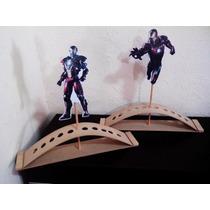 Base Porta Conos Ironman Super Heroes Para Pintar Madera Mdf