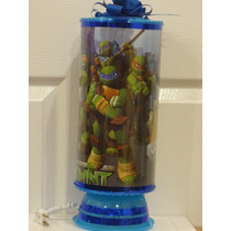 Tortugas Ninja Centros De Mesa,recuerdos,lamparas, 1 Regalo