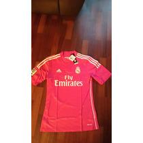 Jersey Adidas Real Madrid 2015 Visita Rosa C/numero Original
