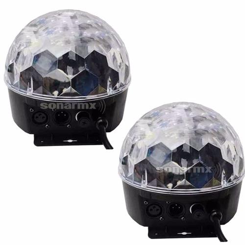 2 Luz Bola Disco Led Dmx Crystal Ball Esfera, Para Djs