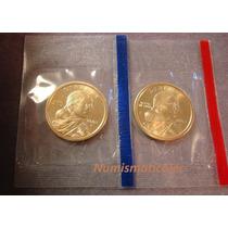 Dollar Sacagawea 2002 Mint P Y D En Sello Original Usa