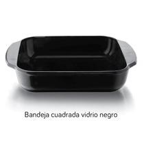 Refractario Pirorey Bandeja Cuadrada Vidrio Negro Ccoenvios