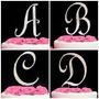 Iniciales Letras Diamante Adorno Para Pastel Cake Topper