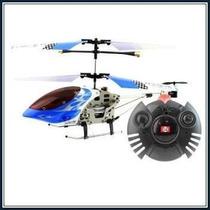 Helicoptero Modelo V-max 3 Canales Azul Y Blanco