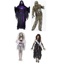 Disfraz Zombie Halloween Niña Niño Adulto Mujer Hombre