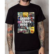 Playera Camiseta Grand Theft Auto Plaza Sesamo 100% Calidad