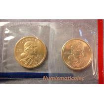 Dollar Sacagawea 2001 Mint P Y D En Sello Original Usa