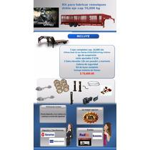 Kit Para Fabricar Remolques Cap 10 Tons Incluye Llantas