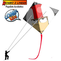 Comic-kite!! Papalote Acrobatico 2 Lineas En Mexico!!