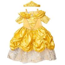 Disfraz Bella Disney Princesas Con Vestido Corona Y Varita