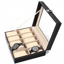 Relojera Estuche Para 10 Relojes Porta Relojes Relojero Fino