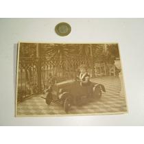 Antigua Fotografía De Alrededor De 1920 Carrito De Pedales