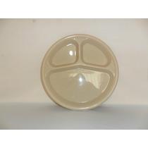 Plato De 3 Divisiones Plástico Tipo Melamina De 25 Cm