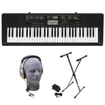 Teclado Casio Ctk 2400 61 Piano Portatil, Mas Accesorios