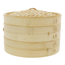 Vaporera De Bambu 25cms Cocina Sano Sin Grasa China Japones
