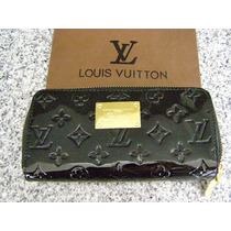 Cartera Lv Louis Vuitton Monograms Vernis Negra
