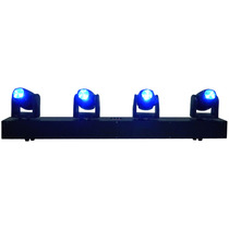 Barra 4 Cabezas Moviles Mini Beam Led Luz Disco 4x10w Rgbw