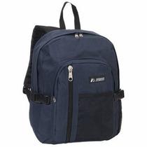 Mochila Everest Con Bolsillo Frontal Azul