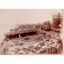 Fotografía Sepía Puerto Coatzacoalcos Veracruz 1930