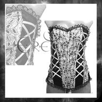 Corset Eretica Terciopelo Gotico Dark Rockero.ch,m.g.xg.xxg