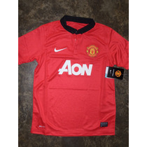 Jersey Manchester Local 2013-2014 Niño Original Nike
