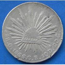 Moneda 8 Reales Culiacan 1866 Extremadamente Rara