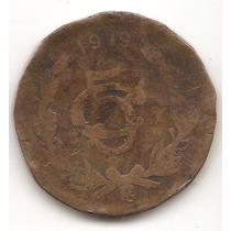 Moneda De Cobre Mexicana 1919 Ravolucion Muy Rara Escasa