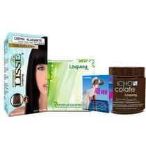 Loquay Kit Look Ampolletas+aclarador+alaciador+acondiciona
