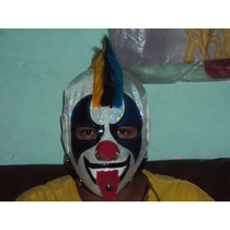 Mascara Luchador Psycho Clown P/adulto Autografiada Semiprof