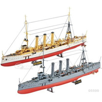 Revell Barco Set 2 Cruceros Sms Dresden / Emden 1/350 Armar